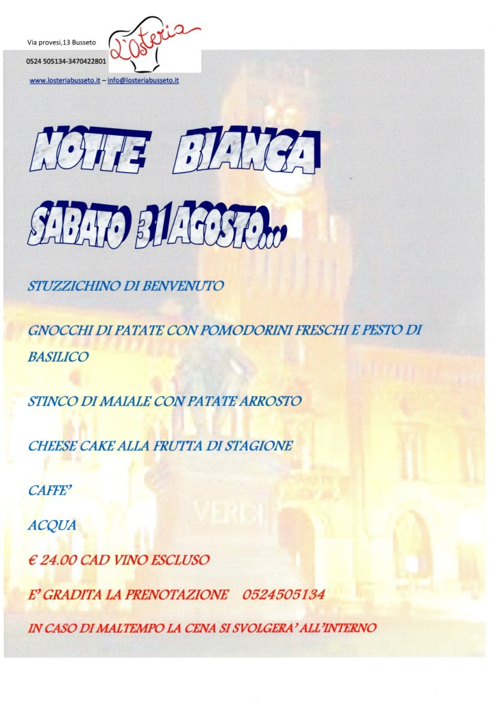 NOTTE BIANCA 2019 1